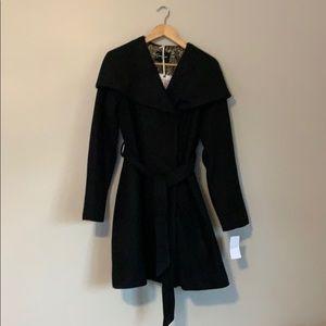 JESSICA SIMPSON Black Hooded Coat